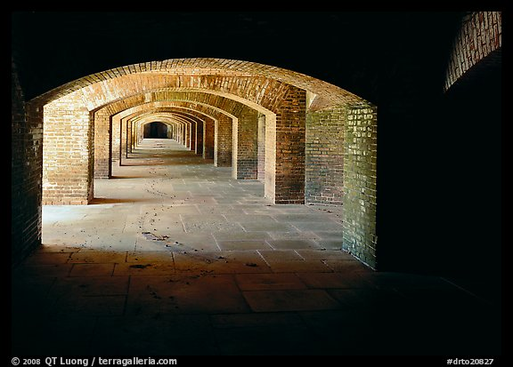 Arches in Fort Jefferson. Dry Tortugas  National Park (color)