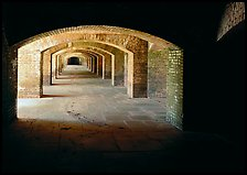 Gunroom in Fort Jefferson. Dry Tortugas National Park, Florida, USA. (color)