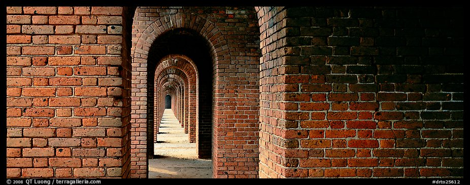 Brick walls and arches. Dry Tortugas National Park (color)