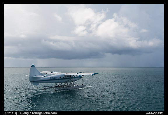 Seaplane and ocean. Dry Tortugas National Park (color)