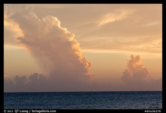 Tropical clouds at sunset. Dry Tortugas National Park (color)