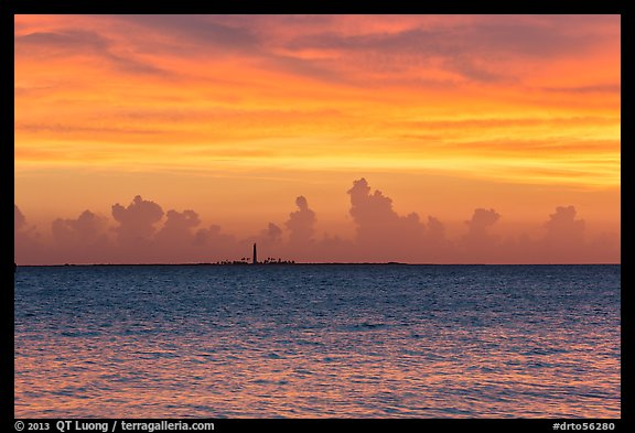 Loggerhead key at sunset. Dry Tortugas National Park (color)