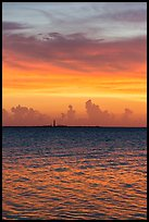 Colorful sunset over Loggerhead Key. Dry Tortugas National Park ( color)