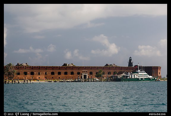 Fort Jefferson from water. Dry Tortugas National Park (color)