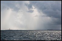 Loggerhead and Garden Key under approaching tropical storm. Dry Tortugas National Park ( color)