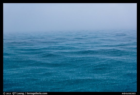 Rain over ocean. Dry Tortugas National Park (color)