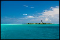 Turquoise waters around Loggerhead key. Dry Tortugas National Park, Florida, USA. (color)
