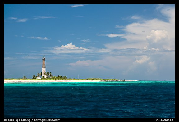 Lighthouse and deck, Loggerhead Key. Dry Tortugas National Park (color)