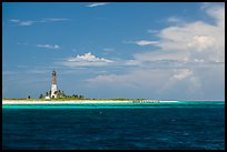 Lighthouse and deck, Loggerhead Key. Dry Tortugas National Park ( color)
