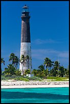 150-feet Loggerhead Light. Dry Tortugas National Park, Florida, USA. (color)