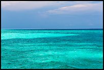 Turquoise waters over shallow sand bars, Loggerhead Key. Dry Tortugas National Park ( color)