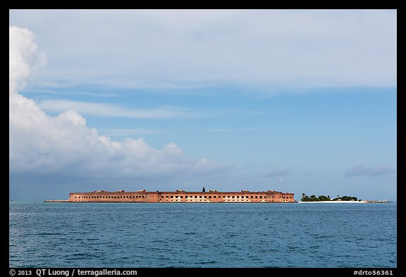 Fort Jefferson and Garden Key seen from the West. Dry Tortugas National Park (color)