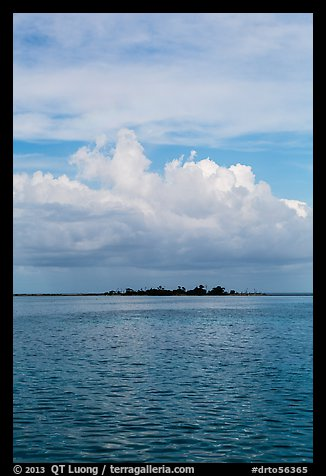 Long Key and cloud. Dry Tortugas National Park (color)