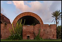 Powder magazine at sunset. Dry Tortugas National Park, Florida, USA. (color)