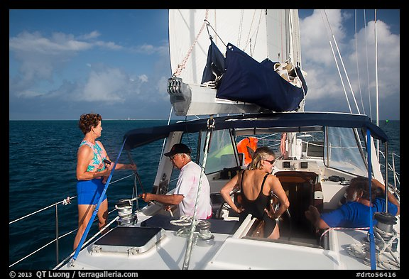 Sailing in the Gulf. Dry Tortugas National Park (color)