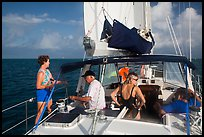 Sailing in the Gulf. Dry Tortugas National Park ( color)