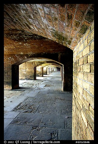 Casemate on the first floor of Fort Jefferson. Dry Tortugas National Park (color)