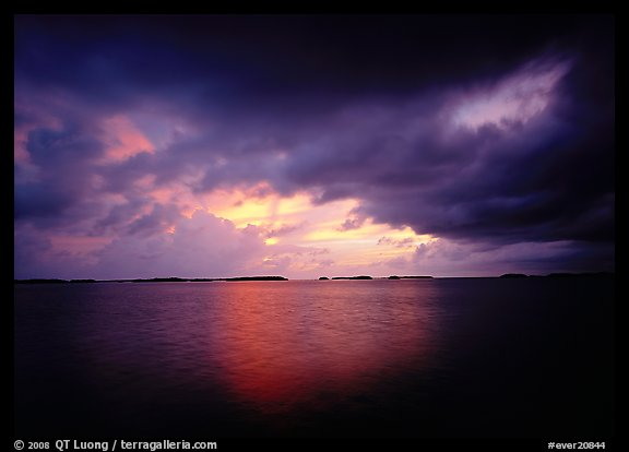 Storm clouds over Florida Bay at sunset. Everglades National Park (color)