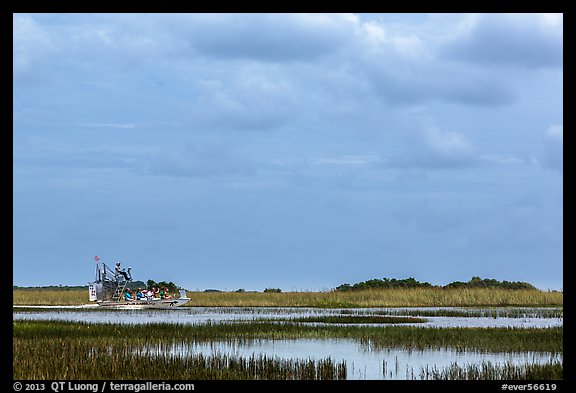 Airboat. Everglades National Park (color)