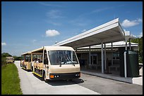 Tram and visitor center, Shark Valley. Everglades National Park, Florida, USA.