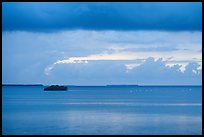 Flock of birds and islets, Florida Bay. Everglades National Park ( color)