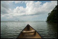 Canoe pointing to Florida Bay. Everglades National Park ( color)