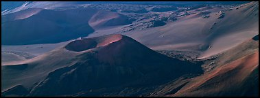 Volcanic landforms with cinder cones. Haleakala National Park (Panoramic color)