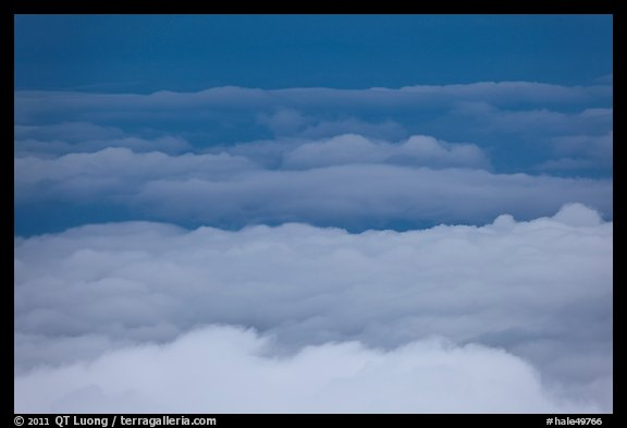 Clouds from above. Haleakala National Park (color)