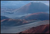 Cinder cones within Halekala crater. Haleakala National Park, Hawaii, USA. (color)