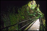 Thurston lava tube seen from inside. Hawaii Volcanoes National Park, Hawaii, USA. (color)