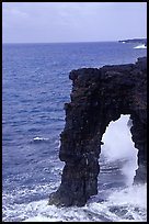 Holei Sea Arch in the morning. Hawaii Volcanoes National Park, Hawaii, USA. (color)