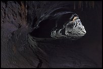 Thurston lava tube (Nahuku). Hawaii Volcanoes National Park, Hawaii, USA. (color)
