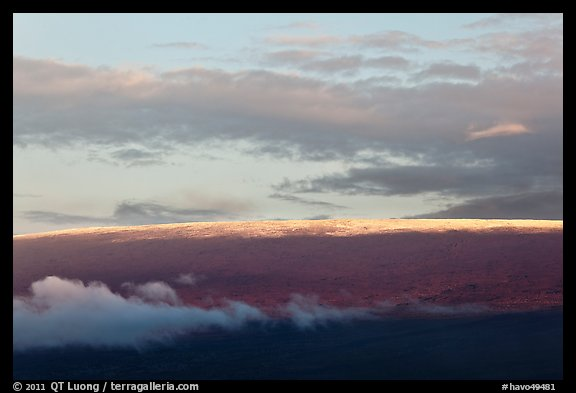 Snow on top of Mauna Loa. Hawaii Volcanoes National Park (color)