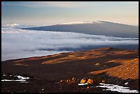 Mauna Loa seen from Mauna Kea. Hawaii Volcanoes National Park, Hawaii, USA. (color)