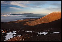 Mauna Loa from Mauna Kea summit. Hawaii Volcanoes National Park, Hawaii, USA. (color)