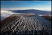 Cinder cone and Mauna Loa. Hawaii Volcanoes National Park, Hawaii, USA. (color)