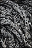 Recently hardened pahoehoe lava. Hawaii Volcanoes National Park, Hawaii, USA. (color)