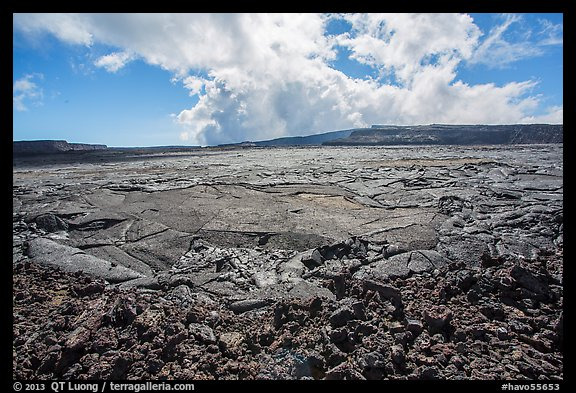 Mauna Loa Summit Crater from North Pit. Hawaii Volcanoes National Park (color)