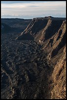 Tall cliffs seen from Mauna Loa summit. Hawaii Volcanoes National Park, Hawaii, USA. (color)