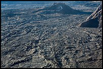 Hershey Kiss and  Mokuaweoweo crater floor. Hawaii Volcanoes National Park ( color)