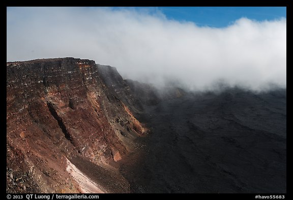 Approaching clouds from Mauna Loa summit. Hawaii Volcanoes National Park (color)