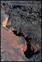 Colorful lava fissure, Mauna Loa. Hawaii Volcanoes National Park ( color)