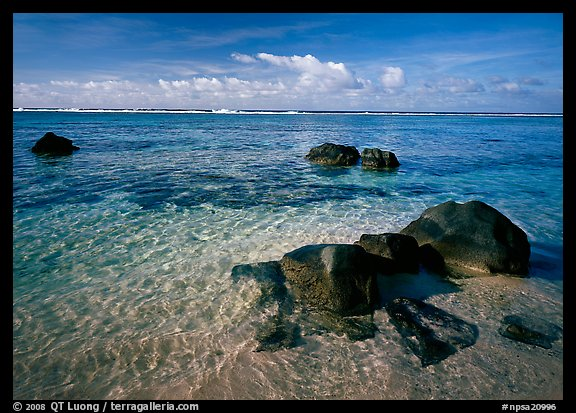 Boulders and Reef, Ofu Island. National Park of American Samoa (color)