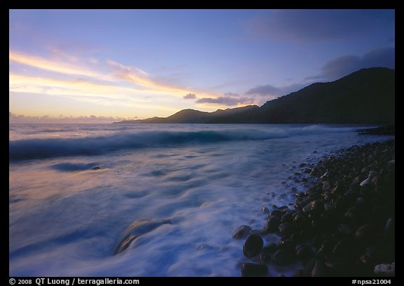 Vatia Bay at dawn, Tutuila Island. National Park of American Samoa (color)