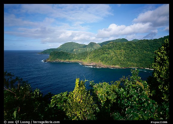 Afono bay, late afternoon, Tutuila Island. National Park of American Samoa (color)