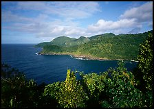 Afono bay, late afternoon, Tutuila Island. National Park of American Samoa ( color)