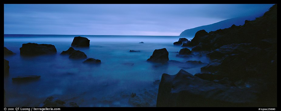 Rugged coastline at dusk. National Park of American Samoa (color)