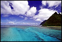 Channel with turquoise waters between Olosega and Ofu. National Park of American Samoa