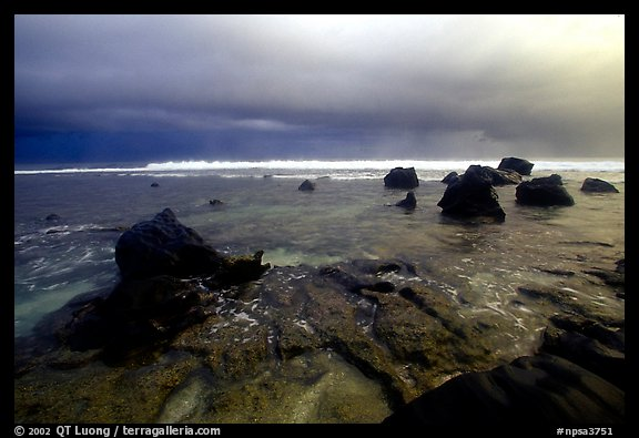 Approaching storm over ocean, Siu Point, Tau Island. National Park of American Samoa (color)