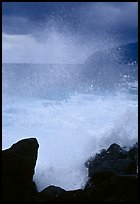 Crashing wave, Siu Point, Tau Island. National Park of American Samoa ( color)